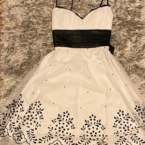 Black and white junior occasion dress